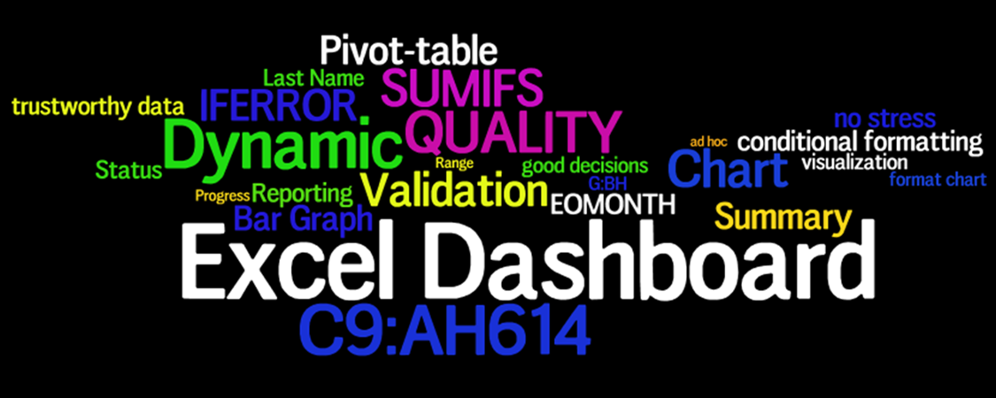 Excel Dashboard Wordle1a