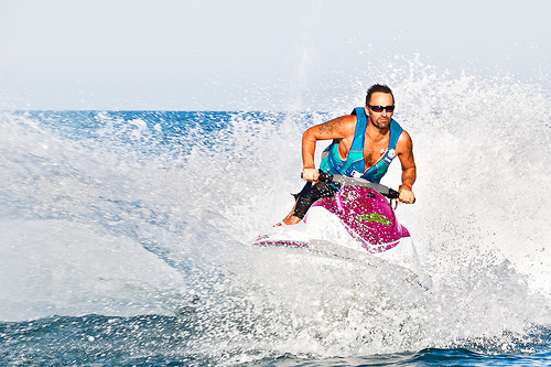 The hyperfocus aspect of attention deficit disorder is like the beauty and power of riding a jetski in choppy water.